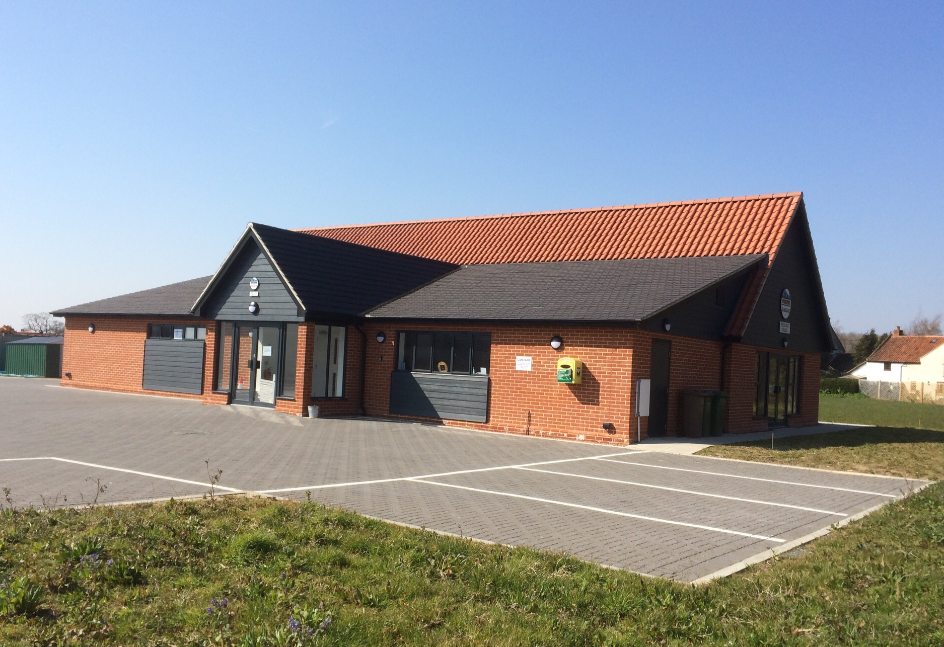 The exterior of the new village hall